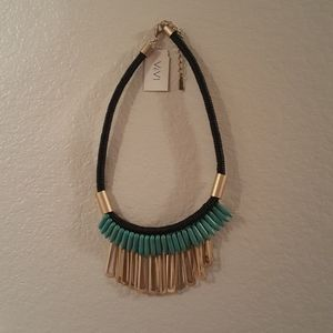 NWT ViVI Reversible Turquoise Necklace